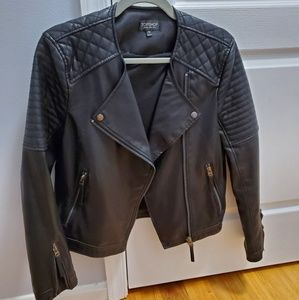 Top Shop quilted moto jacket